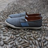 Verificar o deslizamento de tecido em homens Calçados Calçados Casual Solado de borracha do calçado