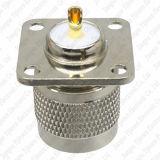 Support de panneau de soudure de bride des trous 25mm de la fiche mâle 4 de la fréquence ultra-haute Pl259 du connecteur So239 de rf