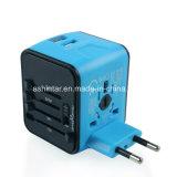 Универсальный адаптер для поездки международного дорожного зарядного устройства с двумя 2.4A настенное зарядное устройство USB