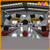 Parque infantil inflável para escolares Racing Go Karts via carro pára-choques Pista de Corridas de ar (AQ16333)