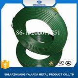 Alambre verde revestido de la percha del PVC para el paño