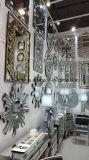 Buffet de vidro curvo Armário espelhado com cinco gavetas