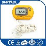 Thermomètre avec des cuvettes d'aspiration