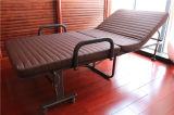 コーヒーカラーマットレス190*90cmが付いている折畳み式の折るベッドかホテルのベッド