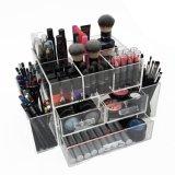 De acryl Kosmetische Laden van het Geval van de Doos van de Organisator van de Make-up met Deksel