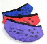 Aliments pour chiens de produit en nylon d'animal familier et cuvette pliables de l'eau
