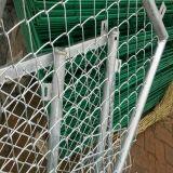 Frontière de sécurité galvanisée de maillon de chaîne de diamant