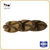 Sharp 6 dentes de metal durável e almofada de polir piso de resina
