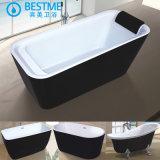 De Buena calidad de color negro acrílico bañera arte (6006)