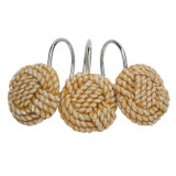 Woven Rope Resin Effect를 가진 장식적인 Shower Curtain Hooks