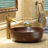 Het matte Bruine Bassin van de Was van de Kleur Ceramische voor Badkamers
