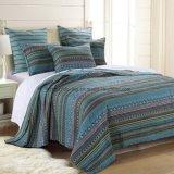 El rayón Rotary Imprimir cama cubierta en Blue&Green (No6060)