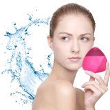 Vibrar de silicona resistente al agua Cepillo de limpieza facial de silicona Masajeador de vibración eléctrica Rechargeble Face Cleanser instrumento