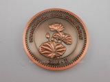 Pièce de monnaie plaquée par or lumineux fait sur commande pour le ramassage (GZHY-YB-012)