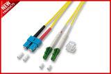 LC 접속 코드에 이중 싱글모드 광섬유 회의 LC 3개 발 길이
