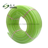 PVCプラスチック適用範囲が広いシャワーの透過明確な管の繊維強化編みこみのガーデン・ホース