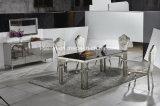 De moderne Aangemaakte Eettafel van het Roestvrij staal van het Glas Hoogste of Marmeren Hoogste of Houten Hoogste