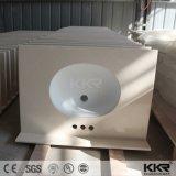 Partie supérieure du comptoir extérieure solide acrylique artificielle de taille de Kkr Custome pour la salle de bains