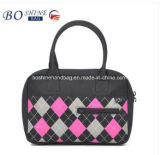 Do projeto novo de couro da bolsa das mulheres fabricante bonito da bolsa das senhoras China com impressão da grade para a compra