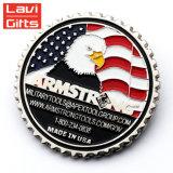 La promoción personalizada Regalo militares de EE.UU. en 3D Metal Soft enamel Recuerdos de oro moneda conmemorativa de desafío para la venta