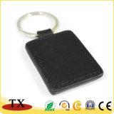 Catena chiave di cuoio dell'unità di elaborazione di marchio dell'anello portachiavi su ordinazione del metallo
