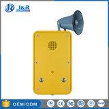 通話装置の非常電話を2台のボタンの電話と呼出す産業電話押し