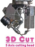 Eje 5 cabezal de corte 3D de la máquina de chorro de agua