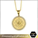 Le bijou maçonnique de pièce d'or de Hip Hop charme le pendant Mjhp108