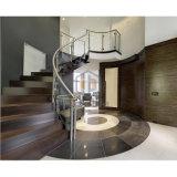 Treppen-Glasgeländer-System mit Edelstahl-Pfosten