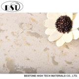 Material de decoração de pedra de quartzo, pedra artificial de quartzo da superfície grande do tamanho