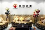 赤くおよび白いシュニールのジャカードソファーの布は中国の製造所によって設計した