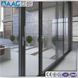 Portes et fenêtres coulissantes en aluminium avec Thermal-Broken et profil unique