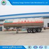 Compartimento três 45000L Petroleiro de alumínio semi reboque com suspensão de ar do pneu 385/65R22.5