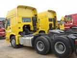 Heavy Duty 10 Wheeler Remolque Cabeza 6X4 420HP HOWO A7 Camión Tractor