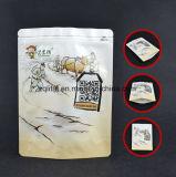 着色された印刷されたアルミホイルのプラスチック包装袋のジッパー袋は袋を立てる
