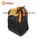 2018горячая продажа электрику полиэстер Tool Bag рюкзак с жестким основанием и имеют множество карманов для инструментов