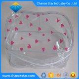 Imprimé personnalisé PVC transparent Sac cosmétique avec fermeture à glissière