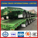 40-60toneladas 2-3 de los ejes de camiones Lowboy excavadora semi remolque semi camión de plataforma baja