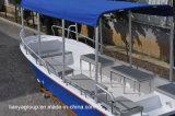 Barco de patrulha do barco de passageiro dos fabricantes dos barcos do Panga da fibra de vidro de Liya 19feet