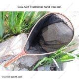 klassisches traditionelles Forelle-Netz-Fliegen-Fischen-Landung-Netz der Hand03g-a08