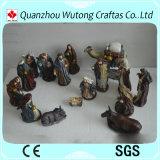 Decoración religiosa del pesebre de la natividad de la resina del ornamento de la Navidad de las estatuillas 16/S de la resina de encargo