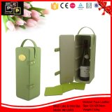Logotipo personalizado embalaje de cartón de cuero caja de vino (8129)