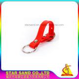 Logotipo personalizado pulsera, anillo de goma personalizados Llavero Llavero, silicona