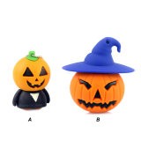Personalizar regalo Halloween Pumpkin Stick USB Pen Drive esqueleto diablo de la memoria Flash USB Flash Drive