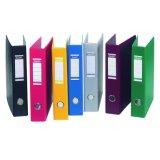 印刷されたカバーファイリングボックスが付いているペーパーレバーのアーチファイル