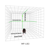 LD 2 Niveau van de Laser van de Laser van het Niveau van Lijnen het Groene Roterende