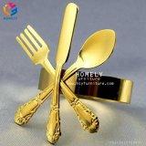 卸し売り結婚式の装飾Hly-Ta10のためのワードによって刻まれる金属のナプキンリング