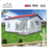 Casa Pequena Estrutura de aço da Luz do Painel do tipo sanduíche Prefab Villas