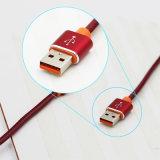 Wholesales PU de alta qualidade do couro cabo de dados USB para iPhone