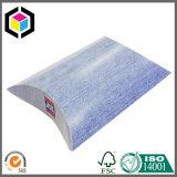 Kundenspezifisches silberne Folien-Firmenzeichen-Pappkissen-Papier-Geschenk-verpackenkasten